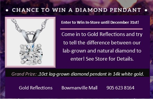 Can you Spot the Difference? Enter to Win a Diamond Pendant*, from Gold Reflections